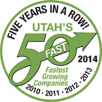 utahs 50 fastest growing companies badge