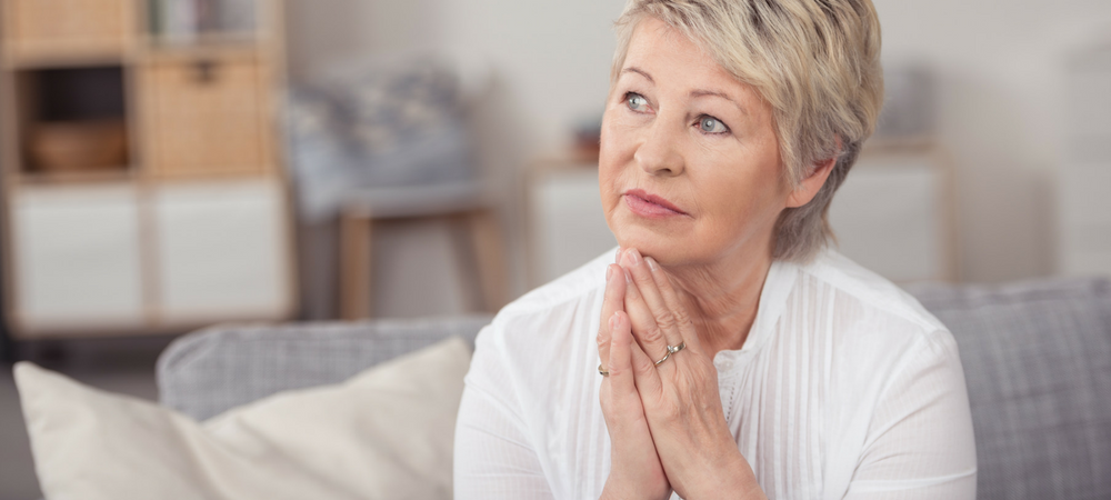 elderly woman considering Reverse Mortgages