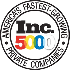 inc. 500 america's fastest growing private companies badge
